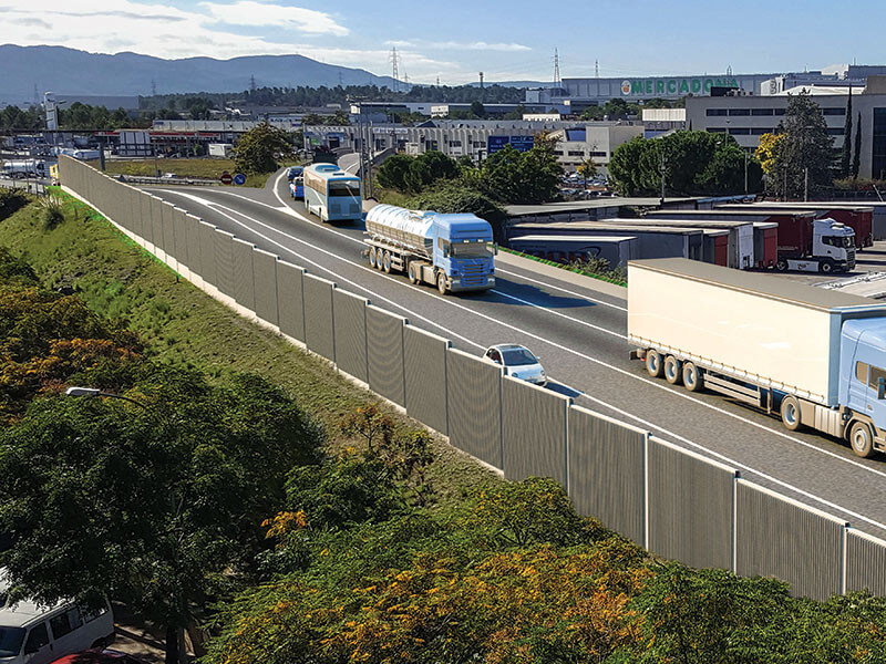 concrete noise barriers